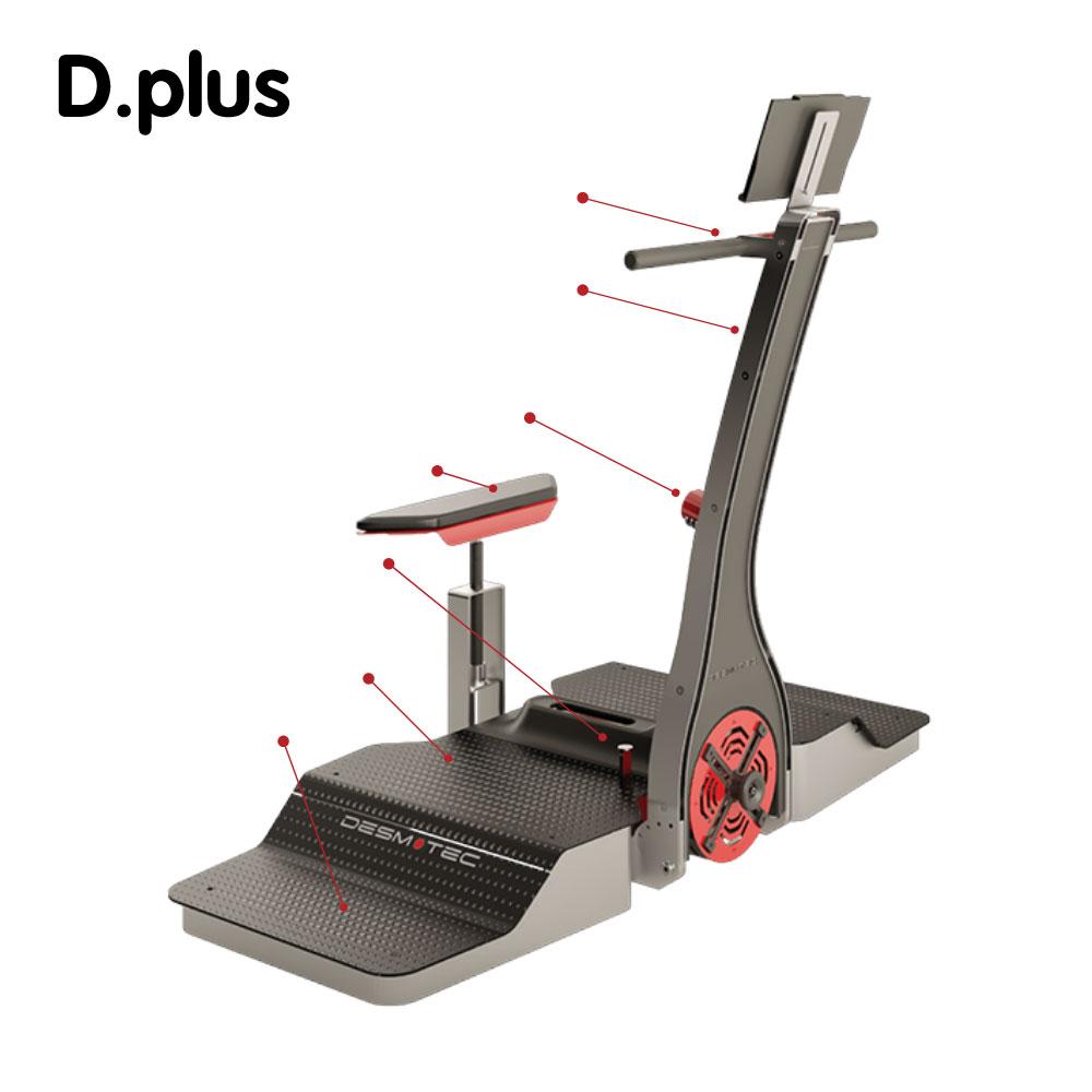 意大利 Desmotec 下蹲式D.PLUS 离心训练器械 像职业选手一样训练